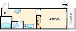 ローズマンション北通[1階]の間取り