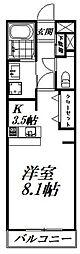 バス 遠鉄バス野口町下車 徒歩2分の賃貸マンション 1階1Kの間取り