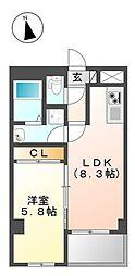 東京都練馬区三原台2丁目の賃貸マンションの間取り