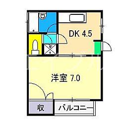 メゾンケー[3階]の間取り