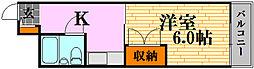 キュービック30[4階]の間取り