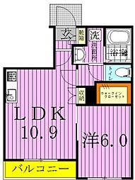 仮)鎌ヶ谷メゾンEAST[202号室]の間取り