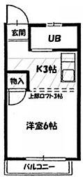ハピネス ヨシダ[203号室]の間取り