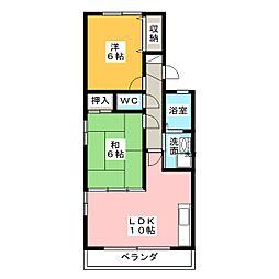 ボーセジュール[2階]の間取り