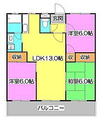 東京都西東京市北町1丁目の賃貸マンションの間取り