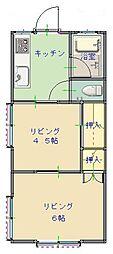 松本ハイツ 105[1階]の間取り