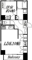 静岡県浜松市中区松城町の賃貸マンションの間取り