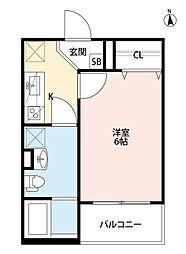 Osaka Metro中央線 緑橋駅 徒歩7分の賃貸アパート 1階1Kの間取り