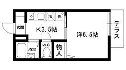 Step夙川[105号室]の間取り