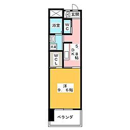 リバーズマンション長住[3階]の間取り