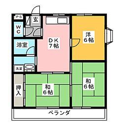 ロイヤルSAKURAI II[3階]の間取り