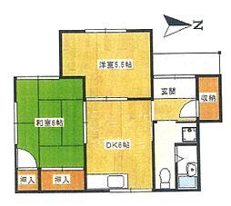 右田アパート K[101号室]の間取り