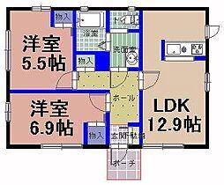 [一戸建] 茨城県笠間市旭町 の賃貸【/】の間取り