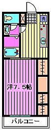 埼玉県さいたま市大宮区宮町5丁目の賃貸アパートの間取り