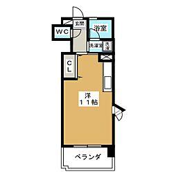 メナー浄心(北棟)[4階]の間取り
