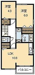 プラネッツ青葉 Ⅰ[2階]の間取り