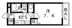 エアリーメゾン平野[202号室号室]の間取り