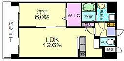 福岡県福岡市博多区金の隈3の賃貸マンションの間取り