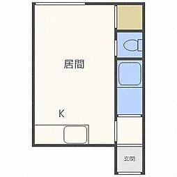 クルーズハウス栄町[2階]の間取り
