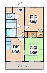 ヤマトマンション[3階]の間取り
