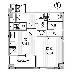 クリオ三田ラ・モード[407号室]の間取り