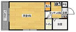 広島県広島市安佐南区大町西3丁目の賃貸マンションの間取り