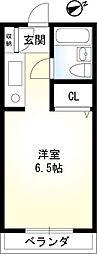 神奈川県厚木市田村町の賃貸マンションの間取り