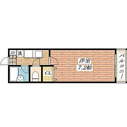 大阪府茨木市沢良宜西4丁目の賃貸マンションの間取り