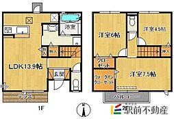 (仮)D-room今の庄[1階]の間取り