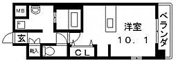 エクセルコート布施タワー[1301号室号室]の間取り