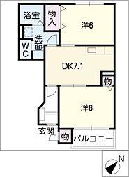 花領下[1階]の間取り