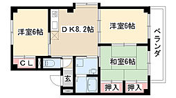 パークヒルズミユキ[3階]の間取り
