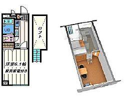 東京都足立区舎人3丁目の賃貸アパートの間取り