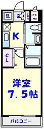 レクサス平田[4階]の間取り