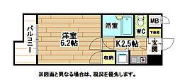 福岡県北九州市八幡西区紅梅1丁目の賃貸マンションの間取り