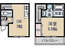 ルシアグレース[1階]の間取り
