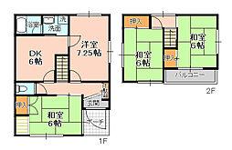 [一戸建] 千葉県松戸市金ケ作 の賃貸【/】の間取り