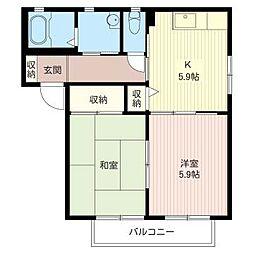 エスポワール A[1階]の間取り