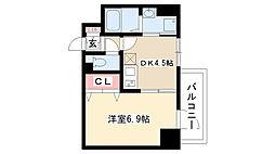 愛知県名古屋市昭和区隼人町3丁目の賃貸マンションの間取り