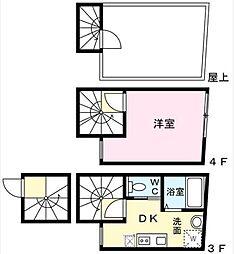 LAVA TOWER ~ラヴァタワー~ 3階1DKの間取り