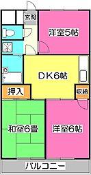 埼玉県所沢市北中2丁目の賃貸マンションの間取り
