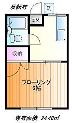 第2前田荘[1f号室]の間取り