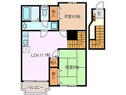サンフォレストI[2階]の間取り
