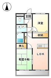 メゾンハンクスMTI[3階]の間取り