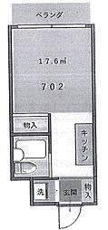 伊勢原六番館[6階]の間取り
