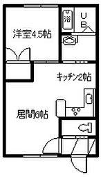 ステラ永山[202号室]の間取り