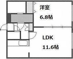 北海道札幌市手稲区富丘三条5丁目の賃貸アパートの間取り