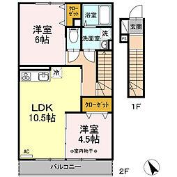 瀬谷区阿久和西3丁目 ウェストグランツI202号室[202号室]の間取り