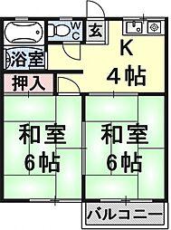 中川ハイツ[3号室号室]の間取り