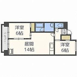第2井川ハイツ[6階]の間取り